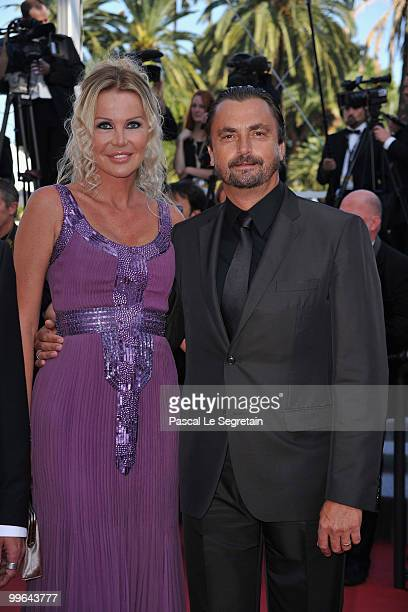French former tennis player Henri Leconte and his wife Florentine attends Biutiful Premiere at the Palais des Festivals during the 63rd Annual Cannes...