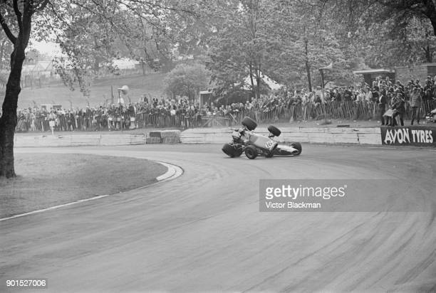 French Formula One and sports car racing driver Jo Schlesser crashes at Crystal Palace, London, UK, 2nd June 1968.