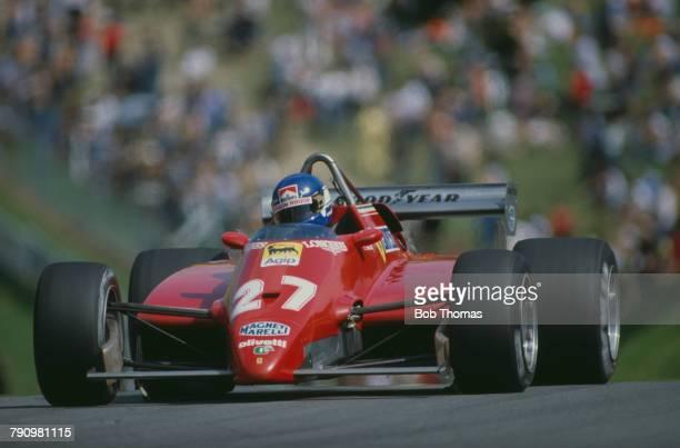 French Formula One racing driver Patrick Tambay drives the Scuderia Ferrari Ferrari 126C2 Ferrari 021 1.5 V6t to finish in 3rd place in the 1982...