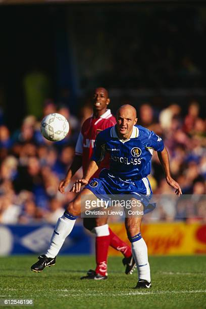 French Franck Leboeuf playing for Chelsea FC