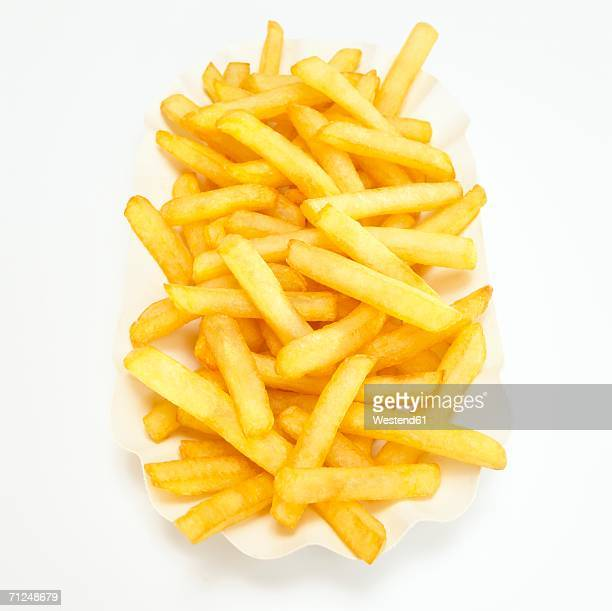 French fries, close-up, elevated view