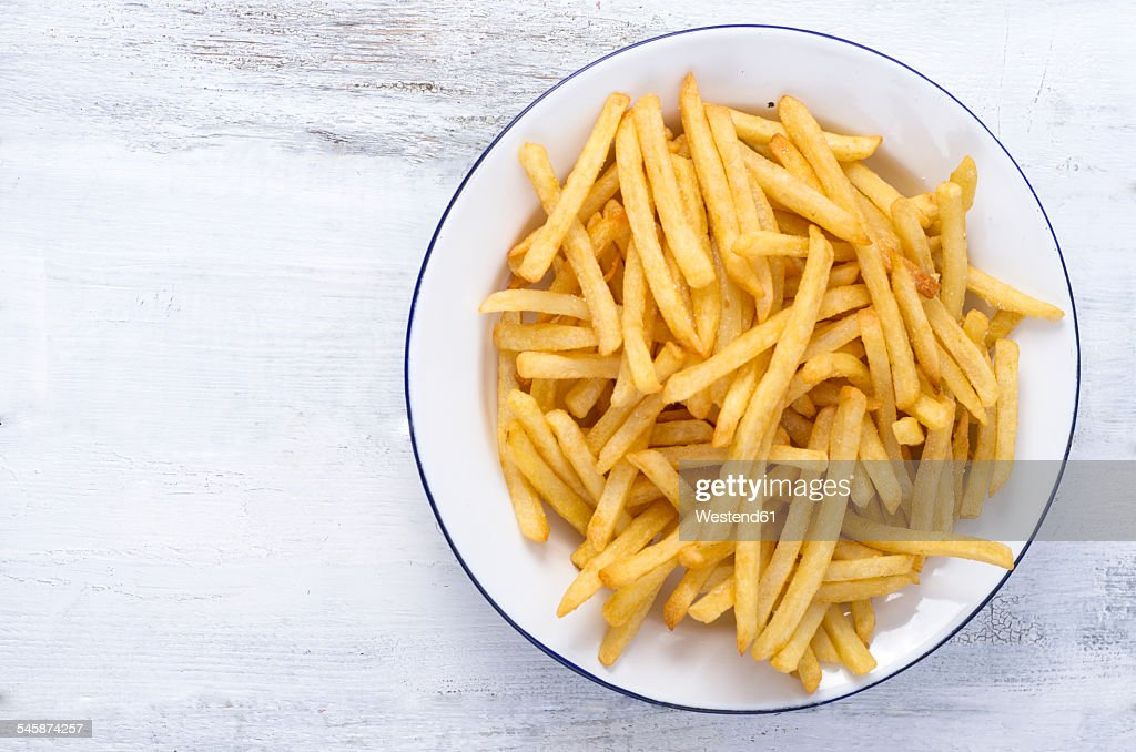 French fries on plate : Stock Photo