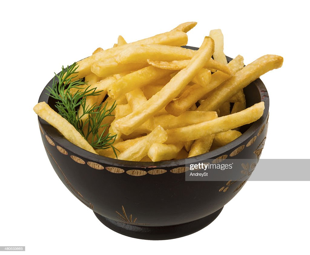 French fries on white background : Stock Photo