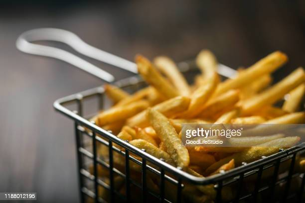 french fries - traditionally belgian stock pictures, royalty-free photos & images