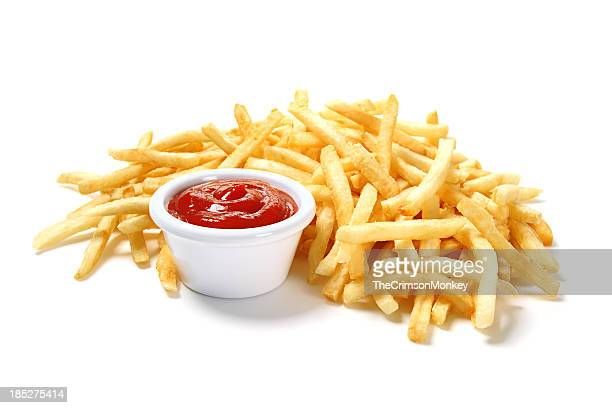 french fries - tomato sauce stock pictures, royalty-free photos & images