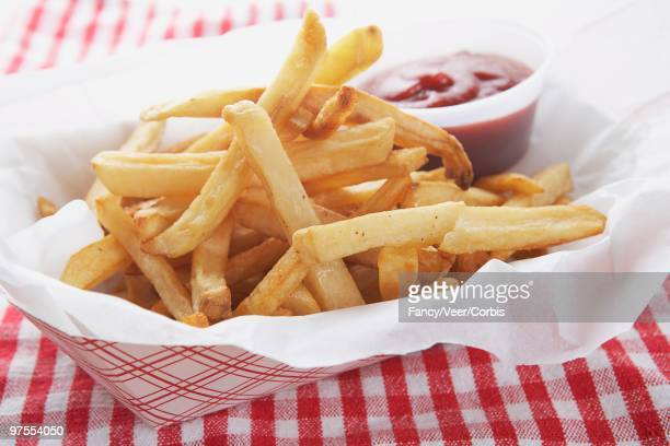french fries - fast food french fries stock photos and pictures