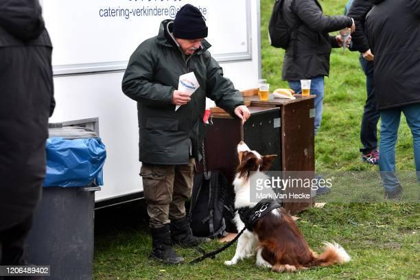 French Fries / Public / Fan / Dog / during the 61st Superprestige Middelkerke Noordzee Cross 2020 Men Elite / @SuperprestigeCX / #middelkerke / on...