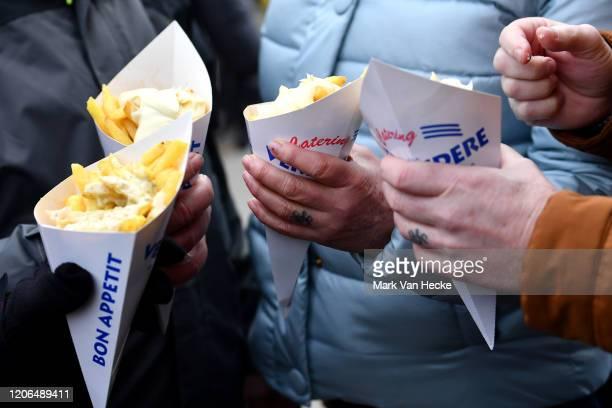 French fries /Public / Fans / Chips / Detail view / during the 61st Superprestige Middelkerke Noordzee Cross 2020 Men Elite / @SuperprestigeCX /...