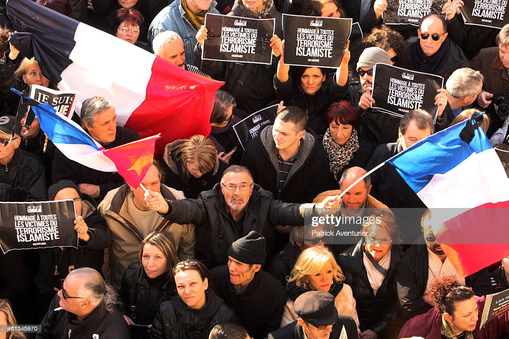 France's National Front Leader Marine Le Pen Holds Rally In Beaucaire : News Photo