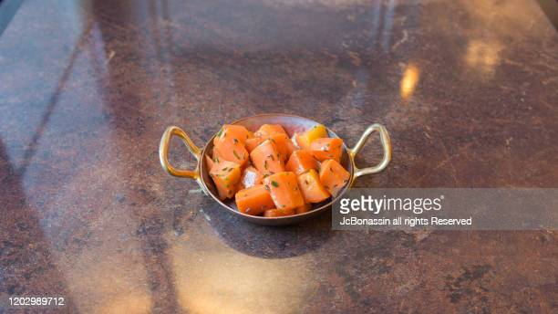 french fusion cuisine - jc bonassin stock pictures, royalty-free photos & images