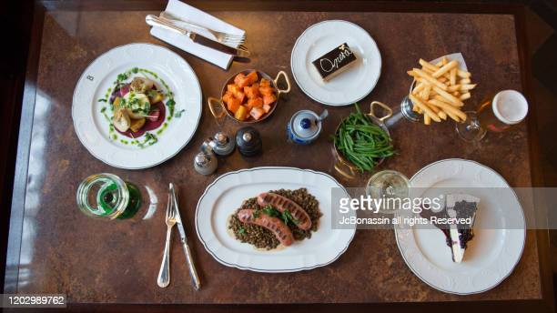 french fusion cuisine - jcbonassin stock pictures, royalty-free photos & images