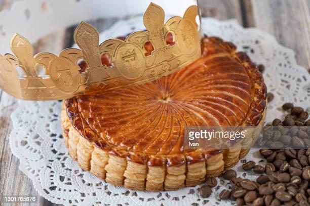 french galette des rois, kings' cake pastry -  キリスト教 伝来の地  ストックフォトと画像