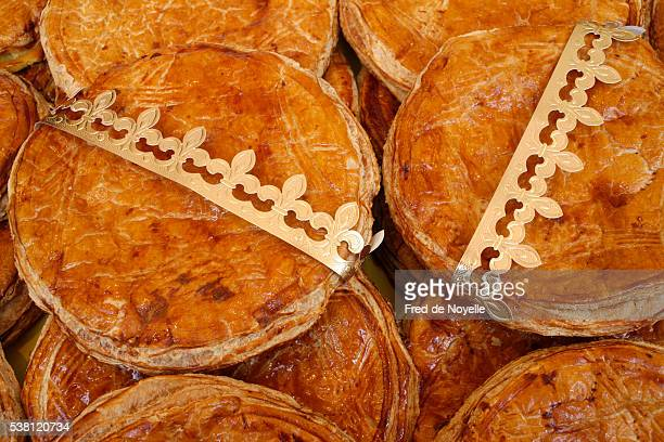 French Galette des Rois Pastry Eaten on Epiphany