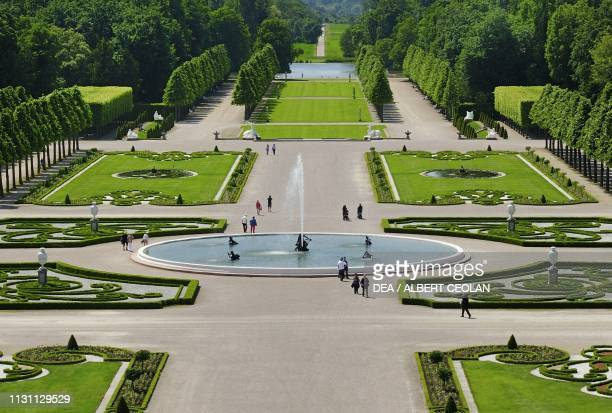 French garden of Schwetzingen Castle BadenWurttemberg Germany