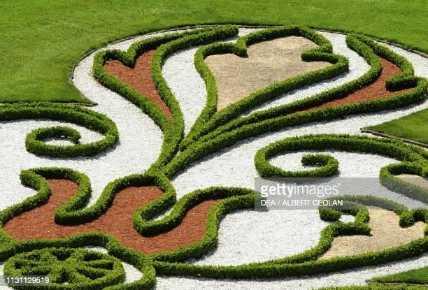 French garden of Schwetzingen Castle detail BadenWurttemberg Germany