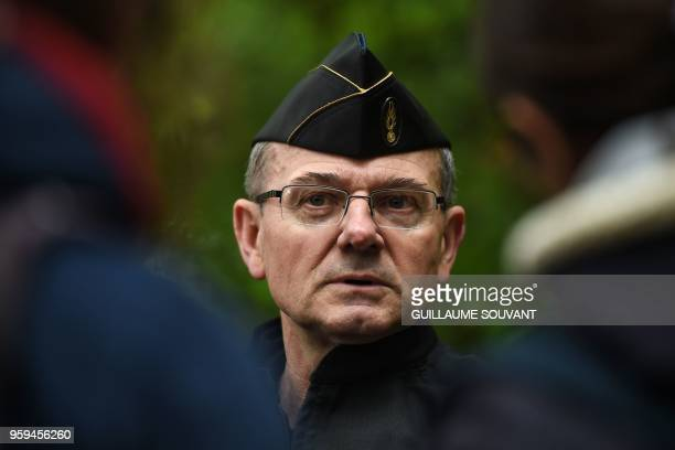 French gendarmerie fivestar general Richard Lizurey speaks to journalists during a second eviction of environmental protesters from the area known as...