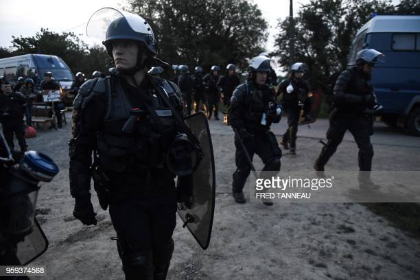 French gendarmes prepare for a second eviction of environmental protesters from the site known as ZAD of what had been a proposed new airport in...