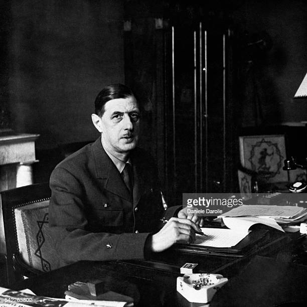 French General Charles de Gaulle leader of the Free French Forces in London