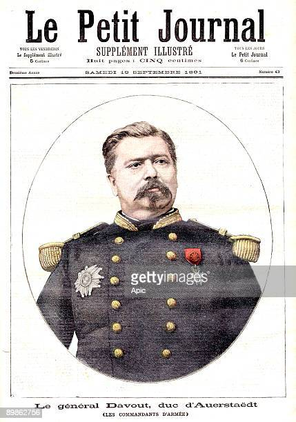 french general Davout duke of Auerstaedt commandant of army frontpage of newspaper Petit Journal september 19 1891