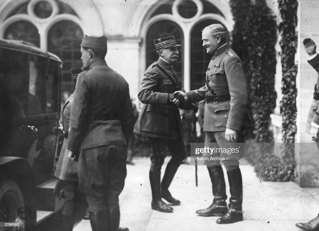 Foch And Pershing : News Photo