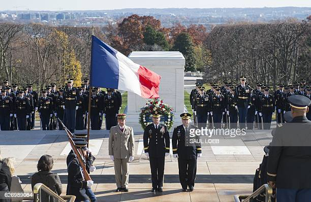 French General JeanPierre Bosser Chief of Staff of the French Army US Army Major General Bradley Becker commanding general of the Military District...