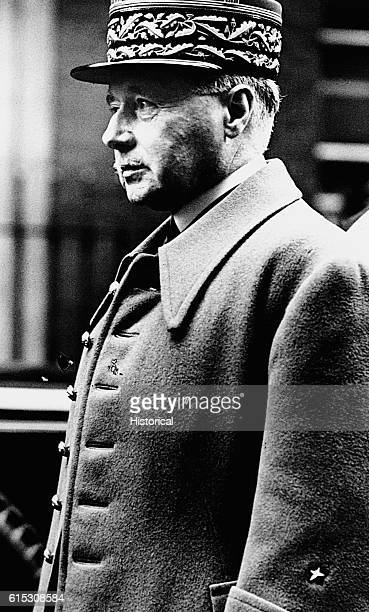 French General Maurice Gamelin, commander in chief of the Allied Forces in France 1939; defeated by the Germans, May 1940.