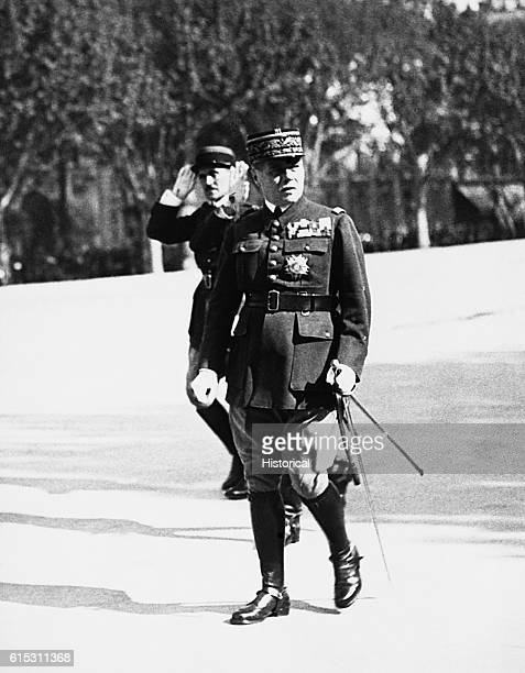 French General Maurice Gamelin served as commander in chief of Allied forces in France in 1939 before defeat at the hands of the Germans in May 1940.