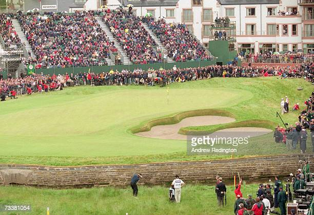 French golfer Jean Van de Velde takes his 5th shot on the 18th green in the final round of the British Open Championship at Carnoustie Scotland 18th...