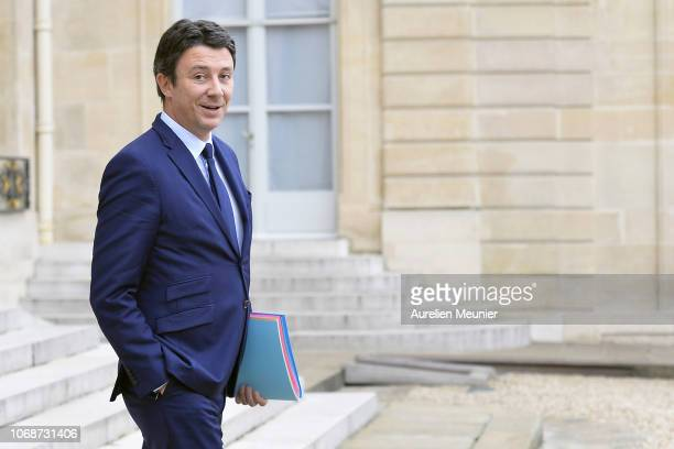 French Government Spokesman Benjamin Griveaux leaves the Elysee Palace after the weekly cabinet meeting on December 5, 2018 in Paris, France.