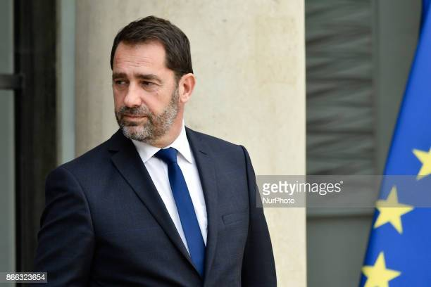 French government spokesman Christophe Castaner leaves the Elysee Presidential Palace after the weekly cabinet meeting in Paris October 25 2017