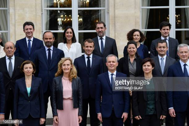 TOPSHOT French Government's spokesperson Benjamin Griveaux Brune French Junior Minister attached to the Minister of Ecological and Inclusive...