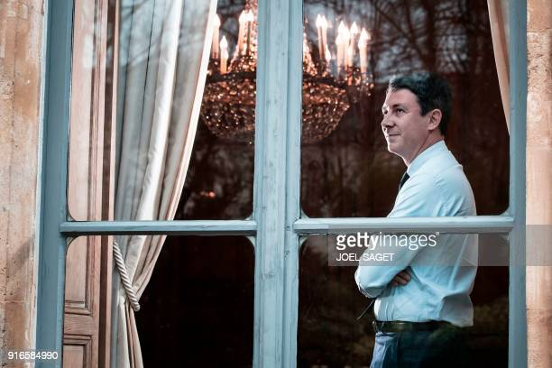 French Government's Spokesperson Benjamin Griveaux poses during a photo session in his office in Paris on February 5 2018 / AFP PHOTO / JOEL SAGET