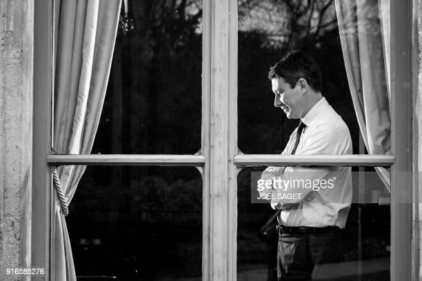 French Government's Spokesperson Benjamin Griveaux poses during a photo session in his office in Paris on February 5 2018