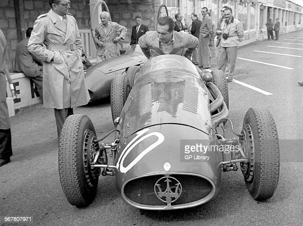French GP in Reims 1954 Ascari maserati 250F pits