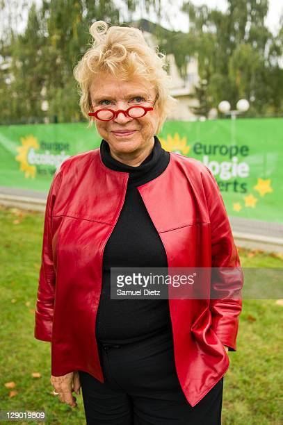 French Green Party candidate in the upcoming French Presidential elections Eva Joly attends the Parliamentary Days on October 10 2011 in Rambouillet...