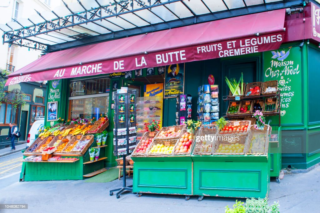 French Grocery Store Stock Photo - Getty Images