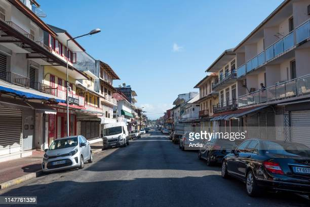 French Guiana, Cayenne: ' rue Francois Arago ' street in the city centre.