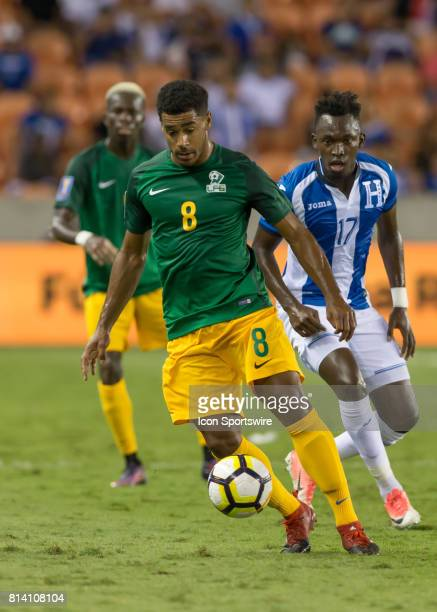 French Guiana defender JeanDavid Legrand moves the ball down the pitch during the CONCACAF Gold Cup Group A match between Honduras and French Guiana...