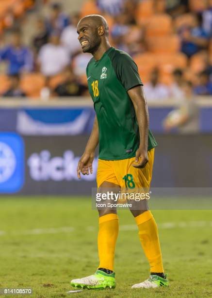 French Guiana forward Sloan Privat reacts after missing a shot on goal during the CONCACAF Gold Cup Group A match between Honduras and French Guiana...