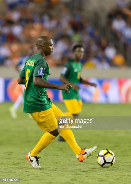 French Guiana midfielder Cedric Fabien passes the ball during the CONCACAF Gold Cup Group A match between Honduras and French Guiana on July 11 2017...