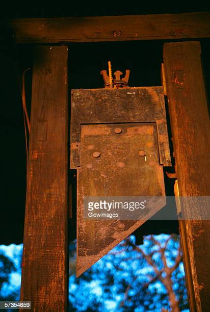 french guillotine, war museum, ho chi minh city (formerly saigon) vietnam - guillotine stock photos and pictures