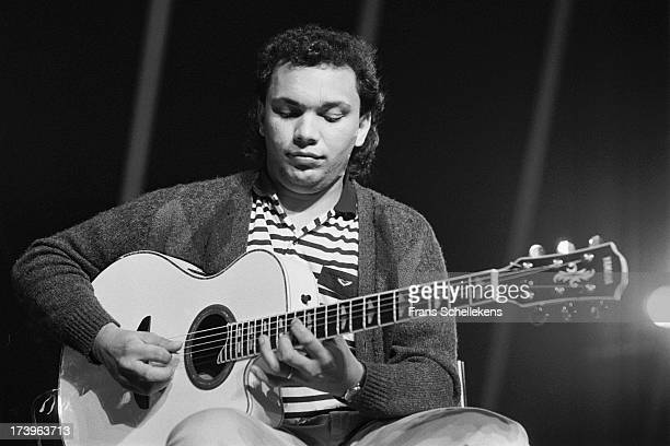French guitarist Bireli Lagrene performs live on stage at the North Sea Jazz Festival in the Hague, the Netherlands on 14th July 1989.