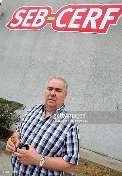 French Guy Lamorlette founder and manager of the French company SEB poses on June 16 2011 in front of the factory in SaintDizier eastern France Six...
