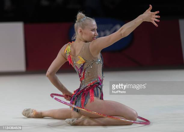 French Gymnast Kséniya Moustafaeva performs during the Rhythmic Gymnastics Thiais International in Thiais France on March 30th and 31st 2019