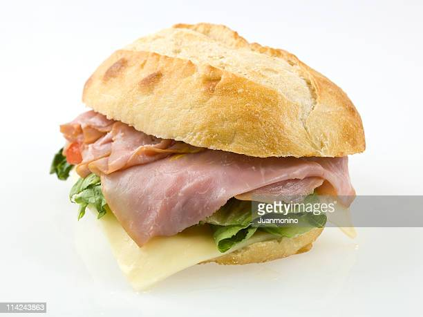 french ham and cheese sandwich - submarine sandwich stock pictures, royalty-free photos & images