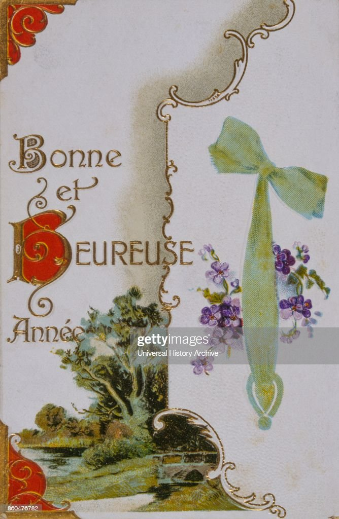 french happy new year postcard 1900 news photo