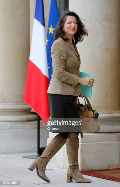 French Health and Solidarity Minister Agnes Buzyn arrives for a meeting as part of the International Day for the Elimination of Violence against...
