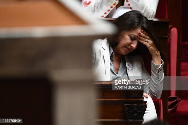 French Health and Solidarity Minister Agnes Buzyn attends a session of questions to the Government at the French National Assembly in Paris on July 9...