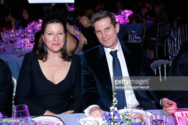 French Health Minister Agnes Buzyn and guest attend the 16th Sidaction as part of Paris Fashion Week on January 25 2018 in Paris France