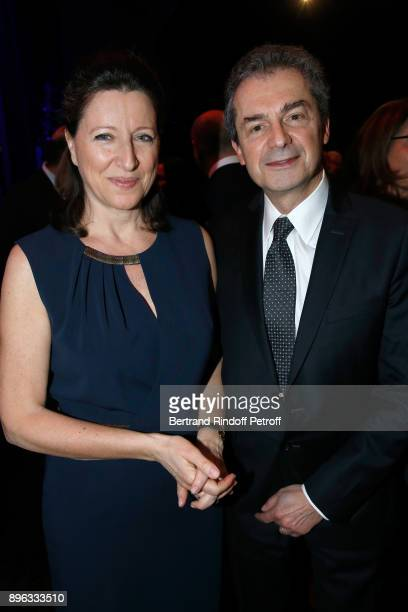French Health Minister Agnes Buzyn and her husband Professor Yves Levy attend the Gala evening of the PasteurWeizmann Council in Tribute to Simone...